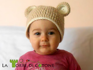 cappello orsetto all'uncinetto