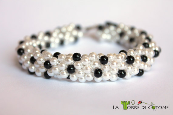 Connu Bracciale all'uncinetto con perline con la spirale a crochet OF97