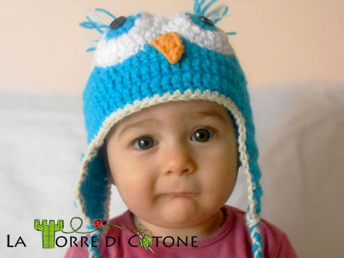 Cappelli: il gufetto cappelli, crochet, cuffietta neonato, uncinetto, cappello gufo